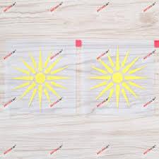 Amazon Com 2x Yellow 4 Sun Of Vergina Macedonia Flag Decal Sticker Car Vinyl Macedonian Kitchen Dining