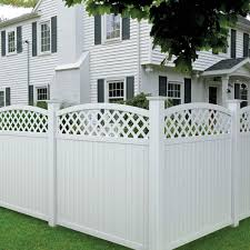 22 Vinyl Fence Ideas For Residential Homes Fence With Lattice Top Vinyl Fence Panels Fence Panels