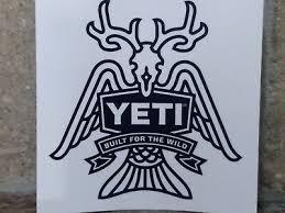 Authentic Yeti Built For The Wild Vinyl Sticker Decal Ebay