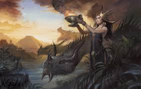 wallpaper woman dragon figure