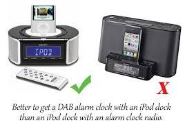 dab digital radio alarm clock