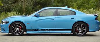 Product 2x Dodge Charger Mopar Rocker Panel Decals Stripe Vinyl Graphics Kit 2011 2018
