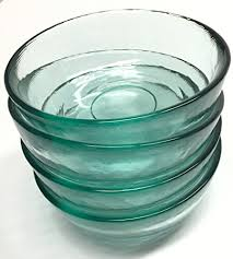 eco living recycled glass bowls set of