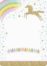 Invitacion Unicornio Hacer Invitaciones De Cumpleanos