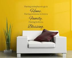 Home Family Blessing Quotes Wall Decal Family Vinyl Art Stickers