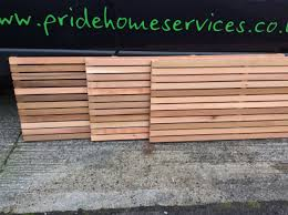 Western Red Cedar Fence Panels Pride Home Services