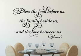 Bless The Food Before Us Vinyl Wall Decal Run Wild Designs