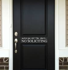 No Soliciting Wall Decal Trading Phrases