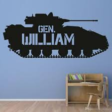 Tank Wall Decal For Kids Room Personalised Name Wall Sticker Decor Nursery Vinyl Wall Decals For Boys Bedroom Decoration Custom Vinyl Wall Decals Custom Wall Decal From Joystickers 8 96 Dhgate Com