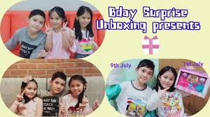 Bday Surprise???Unboxing presents#Adeline #George# - YouTube