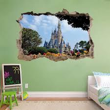 Disney Castle 3d Smashed Broken Decal Wall Sticker J189 Decalz Co