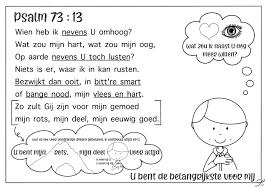 Psalm 73 Vers 13 Kleurplaat Bijbels Opvoeden Nl