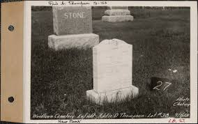 Addie D. Thompson, Woodlawn Cemetery, new section, lot 38, Enfield ...