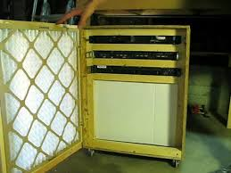 server cabinet with air filtration