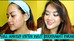 tutorial full makeup untuk jerawat