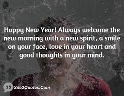happy new year always welcome the new morning a new spirit