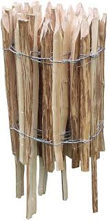 Damian Wiklina Decorative Fence With Posts Garden Slat Wooden Hazelnut Fence Fence Height 50 Cm Length 5 M Distance Between Posts 7 8 Cm Amazon Co Uk Garden Outdoors