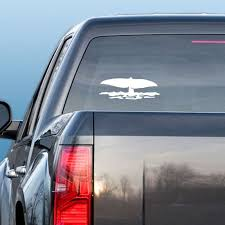 Tail Slapping Whale Decal