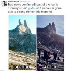 kota kinabalu quake traps climbers on mountain