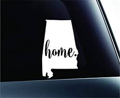 Amazon Com 3 Home Alabama State Montgomery Silhouette Symbol Sticker Decal Car Truck Window Computer Laptop White Automotive