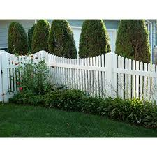 Chinawhite Vinyl Scalloped Top Spaced Picket Fence Panels With Pointed Pickets Customized On Global Sources