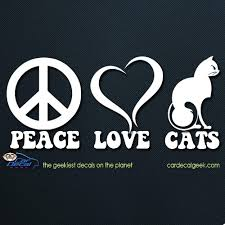 Peace Love Cats Car Window Decal Graphic Sticker