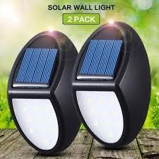 Solar Fence Post Lights Wall Light Deck Lighting 10 Led Waterproof Security Outdoor Solar Lights For Landscape Garden Lazada Ph