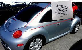 Vw Beetle Volkswagon Fuel Door Decal Vinyl Sticker Removeable Black Goes Here Vw New Beetle Vw Beetles Volkswagon