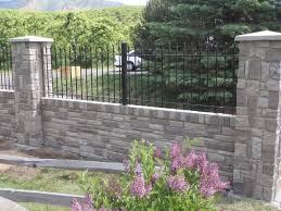 Combining Iron Aluminum Fence With Brick Stone Or Wood Pillars And Walls Iron Fence Brick Fence Fence Design