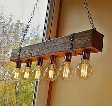 handmade beam chandelier wood beam