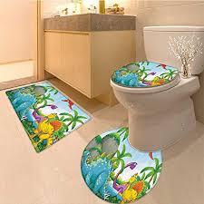 3 piece bathroom rug set dinosaurs