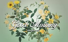 تحميل خلفيات صباح الخير فن الزهور خلفية خضراء صباح الخير