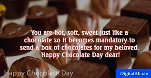 happy chocolate day quotes for girlfriend boyfriend husband