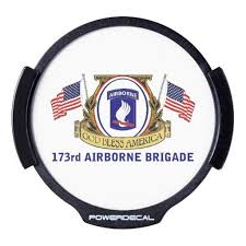173rd Airborne Brigade Led Power Decal Led Window Decal Military Gifts 4th Infantry Division Airborne