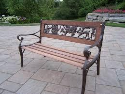 cast iron garden decorative bench