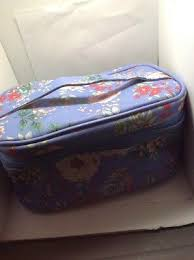 makeup train case purple fl nib