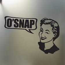 Oh Snap Sticker Funny Vintage Girl Car Truck Window Decal Beauty Temptation Body Car Stickers Decals Car Stickers Aliexpress