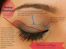 how to makeup small deep set eyes