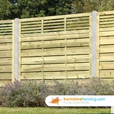 Elite Slatted Top Fence Panels 4ft X 6ft Natural Berkshire Fencing