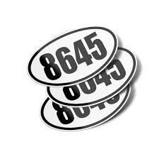 8645 Oval Vinyl Bumper Sticker Decals 3 Pack Bumper Stickers Decalvenue Com Decal Venue