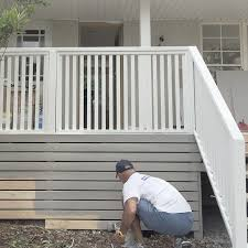 Pin By Evelyn Agent On Outdoor Storage Deck Railing Design Deck Skirting Building A Deck