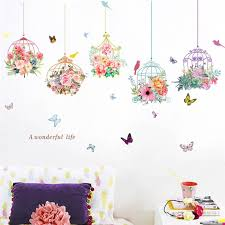 Colorful Garden 3d Vivid Plants Flower Wall Stickers Living Room Flower Butterfly Bonsai Wall Decals Diy Mural Art Posters Vinyl Decals Wall Vinyl Decals Walls From Donaold 21 68 Dhgate Com