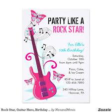 Invitacion Estrella Del Rock Heroe De La Guitarra Zazzle Com