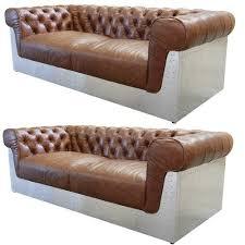aviator chesterfield leather sofa