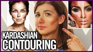 kardashian contouring tutorial attempt