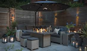palma fire pit table luxury wicker