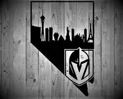 Las Vegas Golden Knights Decal Las Vegas Skyline Nevada Shape Ebay