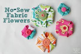 patterned handmade fabric flowers