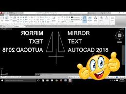 how to mirror text in autocad
