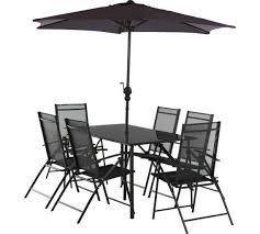 milan 6 seater metal patio set
